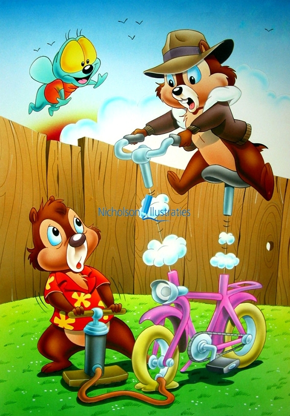 Chip and Dale Illustratie