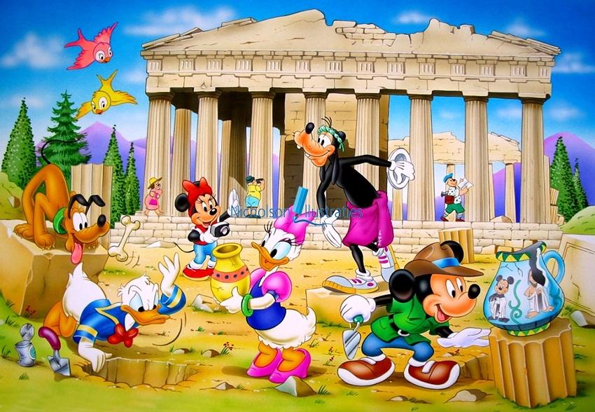 Disney Griekenland Illustratie