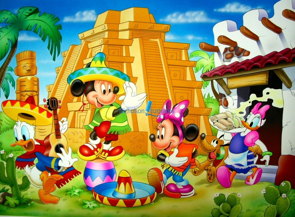 Disney Mexico illustratie