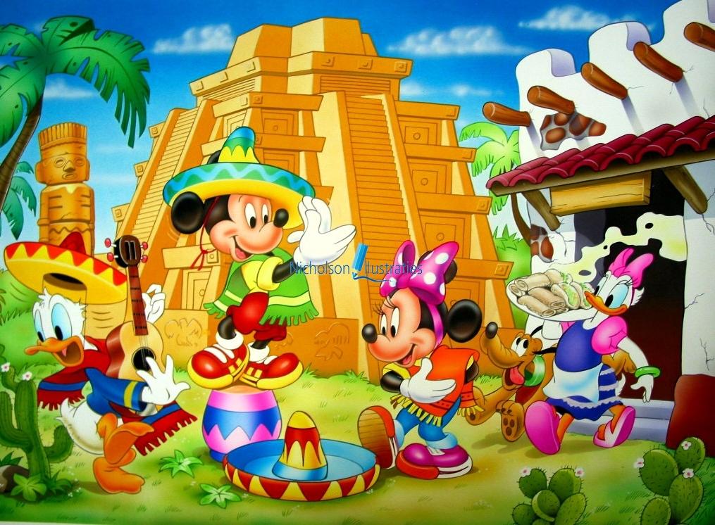 Disney Mexico illustratie